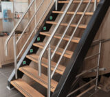 De Holland stairs to exterior deck