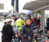 cyclists waiting for the waterbus