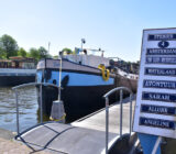 Sarah docked in Oosterdok Amsterdam