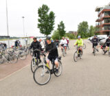 Cyclists in Alblasserdam