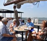 Sailors having a break with coffee