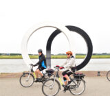 Cyclists in Alblasserdam sculpture