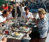 Sunny dinner on deck
