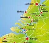 Amsterdam-Bruges Map