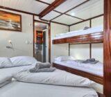 Quadruple cabin below deck