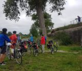 Cyclists at bunker