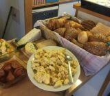 Nutritious breakfast buffet