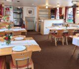 Restaurant tables set