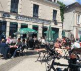 France Champagne Hautvillers street cafe
