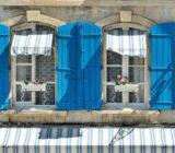 France Provence Camargue  blue shutters