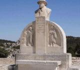 France Provence Camargue Les Baux de Provence statue of Charloun Rieu