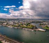 Koblenz view from Ehrenbreitstein fortress