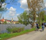 Main bikepath with view on Kitzingen by Guenter Kittel