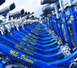 Princess bicycles in blue