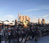Rotterdam Erasmus bridge from ship