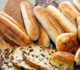 Different breads like dutch sultanas bread