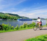 Cycling along the river