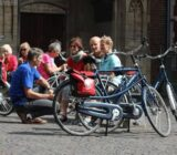 Utrecht  cyclists taking break