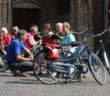 Utrecht  cyclists taking break