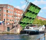 Gandalf sailing underneath the bridge in Amsterdam