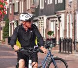 Cyclist in Volendam