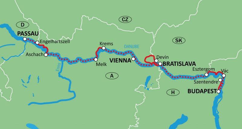 Danube: Passau – Budapest – Passau