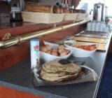 Breakfast aboard ship
