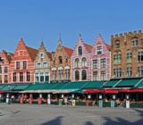 Bruges Grote Markt colorful houses
