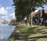 Muiden harbor with Muider castle