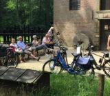 Cyclist stop Veluwe