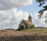 Burgundy church countryside