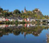 Mosel Saarburg river bridge