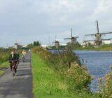 Amsterdam Antwerp Kinderdijk cyclists