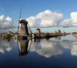 Amsterdam Antwerp Kinderdijk sky