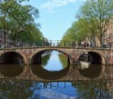 Amsterdam Antwerp bridge in Amsterdam