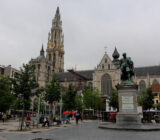 Bruges Antwerp Antwerp Rubens statue Cathedral