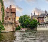 Bruges Antwerp Bruges canal  boat