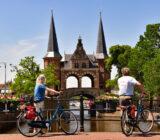 Sneek Waterpoort cyclists Friesland