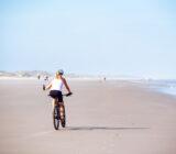 Cycling on Terschelling beach