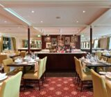 The elegant restaurant